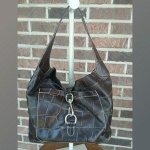 Dooney and Bourke Brown Leather Croc Purse
